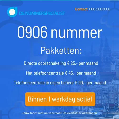 0906 nummer aanvragen