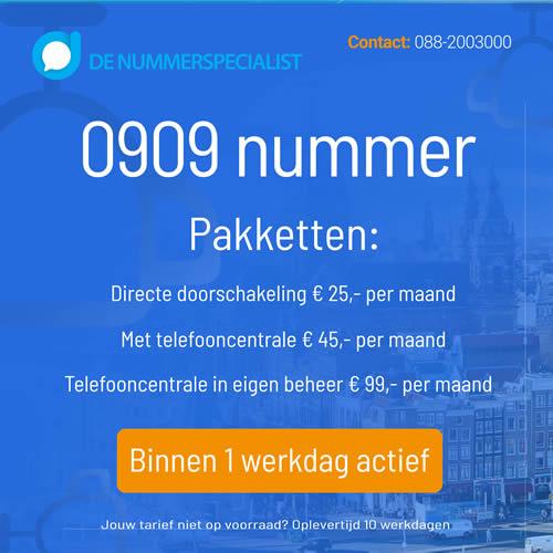 0909 nummer aanvragen