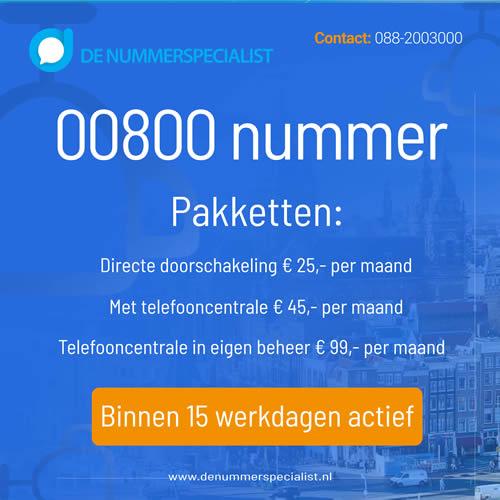 00800 nummer aanvragen